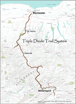 Triple Divide Map